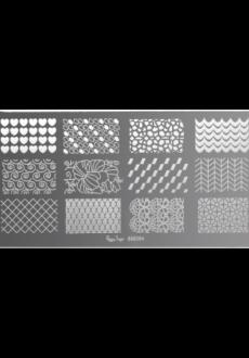 Nail art stamping plate-0