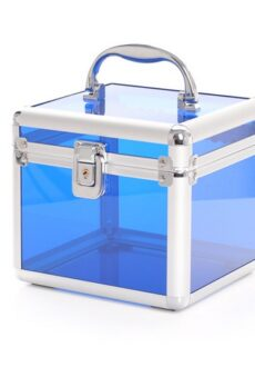 Cosmetic Suitcase mini clear blue-0